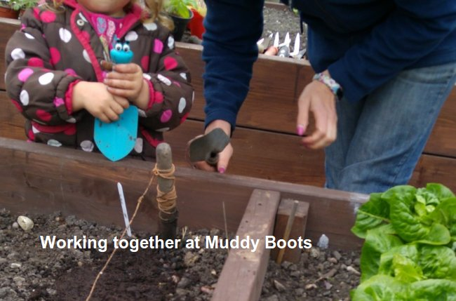 Muddy Boots sharing together image