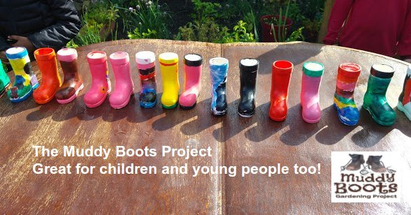 Muddy boots for children and young people - image and web link